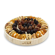 Stuffed Dried Fruits & Dates In Round Tray