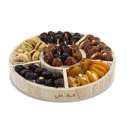 Stuffed Dates & Dried Fruits In Round Tray
